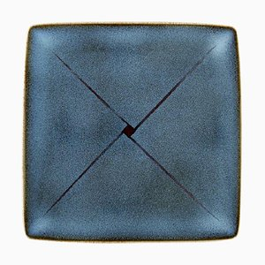 Large Square Dish in Glazed Ceramics by Inger Persson for Rörstrand, 1936