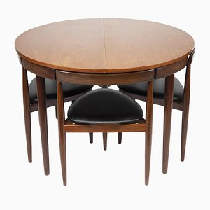 Mid-Century Teak Dining Table and Chairs Set by Hans Olsen for Frem Røjle, 1950s, Set of 7