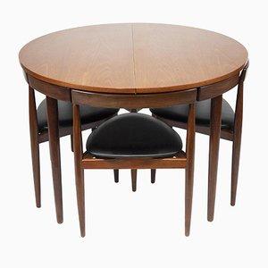 Mid-Century Teak Esstisch mit Stühlen von Hans Olsen für Frem Røjle, 1950er, 7er Set