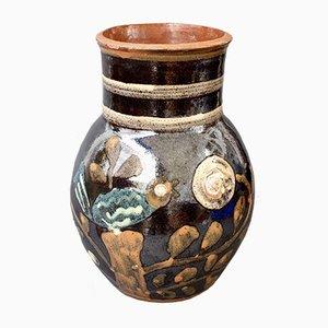Französische Vintage Keramik Vase von Primavera, 1940er