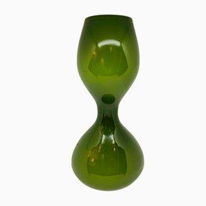 Hand Blown Holmegaard Hour Glass Vase, 1970s