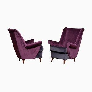 Lounge / Sessel von Gio Ponti von Isa Bergamo, Italy, 1950er, 2er Set