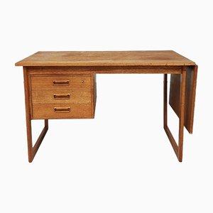 Mid-Century Danish Teak Drop Leaf Desk by Arne Vodder