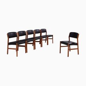 Mid-Century Esszimmerstühle von Arne Vodder für Sibast, 6er Set