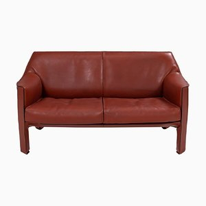Cab Leather 415 Sofa by Mario Bellini for Cassina