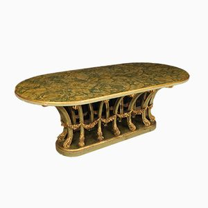Italian Lacquered & Gilded Wooden Table