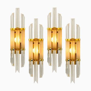Venini Style Murano Glass and Brass Sconce, Italy