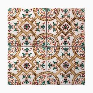Antike Keramikfliesen von, Onda, Spanien, 1900er