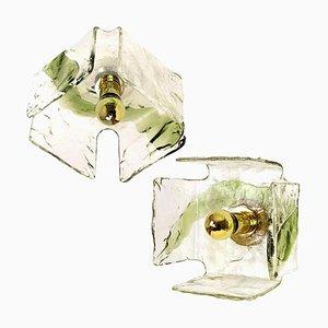 Grüne Mundgeblasene Wandlampen von JT Kalmar für Sasha