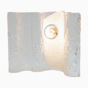 Wave Eisglas Tischlampe von Kalmar, 1970er