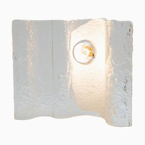 Wave Ice Glass Table Lamp from Kalmar, 1970s