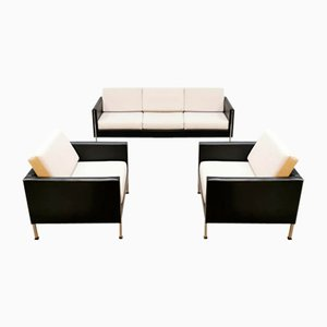 Dutch Design Sofa and Armchairs by Pierre Paulin for Artifort, Set of 3