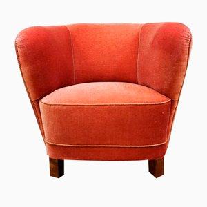 Dänischer Geschwungener Mid-Century Lady Banana Chair