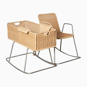 Rocking Chair with Cradle, Set of 2