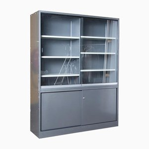 Metal Office Cabinet in Anthracite Grey