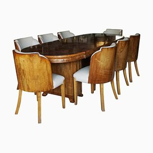 Eight Seat Dining Suite, Set of 9