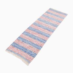 Skandinavischer Handgewebter Vintage Teppich aus recyceltem Material, 1980er
