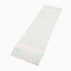 Handgewebter skandinavischer Vintage Teppich aus recyceltem Material