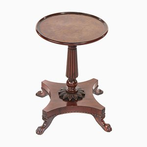 19th Century Yew Wood Lamp Table