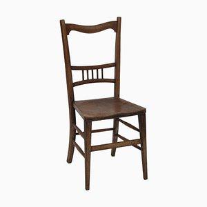 Stuhl aus patiniertem Mahagoni im Stil von Fritz Hansen, Dänemark