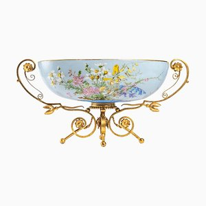 Baccarat Opaline Cup with Bronze Base, 19th Century