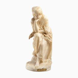 Sculpture Ruth en Albâtre