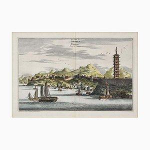 Pieter Van Der Aa, View of Hukoen / Anning / Nanjing, Set of 3