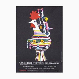 Póster de documentos de identidad territorial desconocido, Original Offset Print, 1978