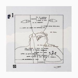Ennio Pouchard, Diecicomeleditadiduemani, Screen Print on Acetate, 1973