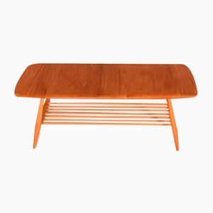 Vintage Elm Windsor Model 459 Coffee Table by Lucian Ercolani for Ercol