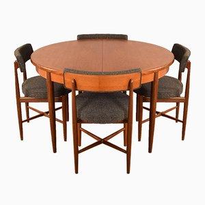 Runder Runder Fresco Tisch & 4 Stühle von Victor Wilkins, 1960er, 5er Set