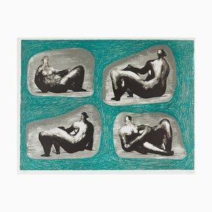 Henry Moore, cuatro figuras reclinables, 1974