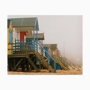 Strandhütten, Wells-Next-the-Sea, Norfolk, Britisches Farbfoto am Meer, 2003