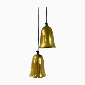 Lampes à Suspension en Laiton par Boréns, Suède, Set de 2