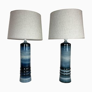 Mid-Century Ceramic Table Lamps by Olle Alberius for Rörstrand, Sweden, Set of 2