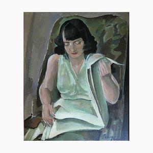 Percival Pernet, Jeune Femme à la Lecture, 1957