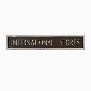 International Stores Schild