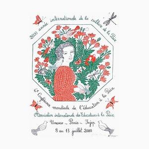 Année Internationale de la Culture de la Paix Poster by Juliette Ramade
