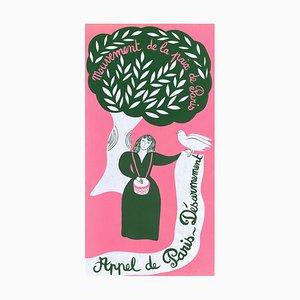 Póster Mouvement de la Paix Appel de Paris de Juliette Ramade
