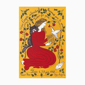 Affiche Congrès International Enseignants pour la Paix par Juliette Ramade