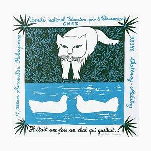 Poster educativo del Comité National pour lo Désarmement di Juliette Ramade