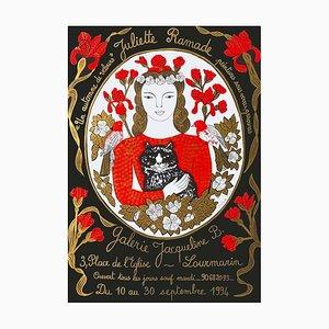Galerie Jacqueline B. Lourmarin Poster by Juliette Ramade