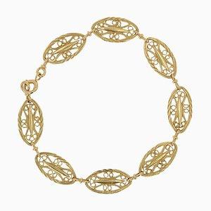 Braccialetto in stile Belle Epoque in oro giallo, 18 carati, Francia