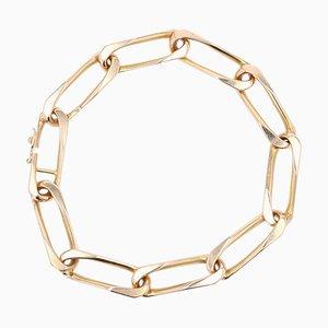 French 18 Karat Rose Gold Twisted Figaro Link Bracelet, 1960s