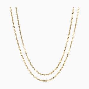 Französische 18 Karat Gold Gold Choker Halskette, 19. Jh