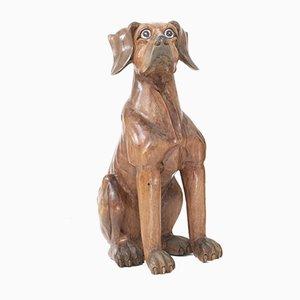 Vintage Wooden Dog