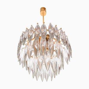 Vergoldeter Kristallglas Kronleuchter von Lobmeyr / Bakalowits & Sons, 1960er