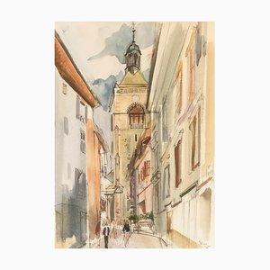 Pierre Duc, Rue Bugnet, Evian, 1989
