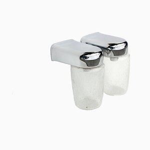Crystal Glass Wall Sconces, 1970s, Set of 2