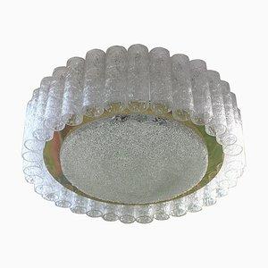 Plafonnier Mid-Century en Cristal